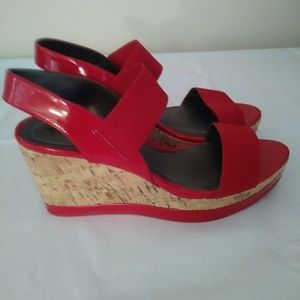 Women's size 11w red sandals